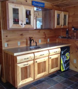 Cherry and Pine Wet Bar