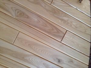 White ash paneling.     Paneling