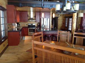 Painted White Ash Kitchen On Rough Sawed Floor
