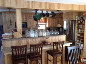 White Birch Paneling and Cabinets